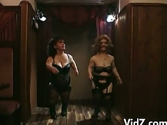 Horny midgets dance added to strip missing their sexy clothes unaffected by stage